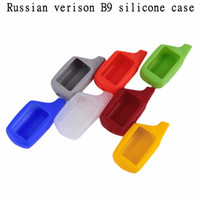 Wholesale Starline B9 Lcd - Russian version B9 case silicone case For Starline B9 B6 A61 A91 lcd two way car alarm remote controller
