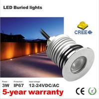 Wholesale mini led driver - Super bright LED Underground Light Bridgelux Chip Waterproof IP67 Isolation Driver 3W Mini Lamp DC12V New Design
