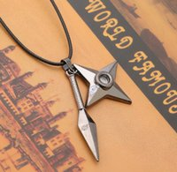 Wholesale Shuriken Naruto - 2016 Women's Hot Naruto shuriken wind in Europe and America plating Alloy Pendant Pendant Cartoon Film