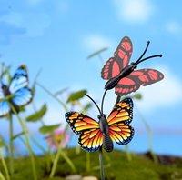 ingrosso decorazione farfalle giardino-20 pz Mini Insetto farfalla artificiale fairy garden miniature gnome moss terrarium decor resina artigianato bonsai decor per la casa