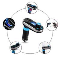 cargador universal móvil lcd al por mayor-Coche FM BT66 Transmisor Bluetooth Manos libres LCD Reproductor de MP3 Kit adaptador de radio Cargador Teléfono móvil inteligente con paquete al por menor