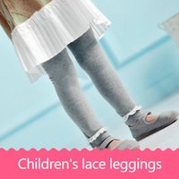 Wholesale Girls Black Lace Tights - Autumn and winter version of the children's pants stockings lace leggings