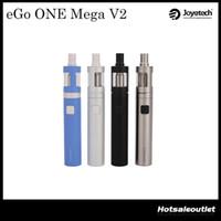 Wholesale Ego V2 Mega - Joyetech eGo ONE Mega V2 Starter Kit with 2300mAh eGo ONE Mega V2 Battery 4ml Capacity eGo ONE Mega V2 Atomizer 100% Original