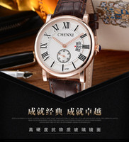 Wholesale Ladies Strapping Men - men stop brand of of luxury watches military watches calendar waterproof leather strap quartz watches ladies became Othing watches