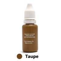Wholesale Tattoo Ink Taupe - Wholesale- Won't Fade Professional Tattoo Ink Microblading Permanent Makeup Micro Pigment for Eyebrow Lip Eyeliner 1 2 oz 15ML Taupe 1Piece