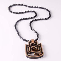 Wholesale good wood acrylic necklace resale online - Fashion Luxury Good Wood Hip Hop MMG Men Pendant Necklace Long Chain Beads Necklaces Pendants Jewelry ICED OUT Jewelry