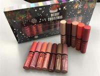 Wholesale merry christmas boxes - Merry Christmas gift NYX VELVET MATTE LIP GLAZE SOFT lipstick lip gloss set = 12PCS big box Makeup 12 colors nyx lipgloss Lasting free DHL