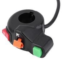 interruptores de luz al por mayor-7/8 pulgadas Motocicleta Scooter Dirt ATV Quad manillar Cuerno Interruptor Faros Señales de giro Interruptor de encendido / apagado Envío gratuito