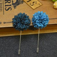 Wholesale Cheap Fashion Accessories Wholesale China - Price Cheap Fashion Pattern Flower Brooch lapel Pins handmade Boutonniere stick with cloth flowers for Gentleman suit wear Men Accessories