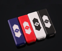 USB Lighter Rechargeable Electronic Isighter Super Man Cigarette Turbo Briquet Batterie Flameless Cigar c127