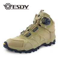 Wholesale boots tactical khaki - Outdoor Shoes Men 39-45 Waterproof Shoes Men Hiking Boots Military Sports Hiking Shoes Trekking Boots Men Tactical Outdoor Boots