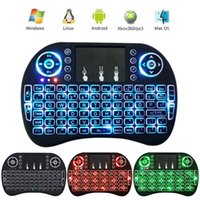 Mini tastiera wireless retroilluminata con mouse touchpad e tasti multimediali per la TV Android Box HTPC PS3 XBOX360