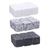 Wholesale whiskey ice cubes rocks for sale - Group buy Natural Whiskey Stones Sipping Ice Cube Stone Whisky Rock Cooler Christmas Wedding Party Bar Drinking Accessories Set OOA3616