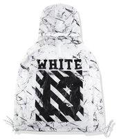 Wholesale Men S Ties Stripes - OFF WHITE Jackets Tie-dye marble diagonal stripes windbreaker jackets hooded streetwear coats