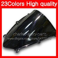 Wholesale Rr Motorcycles - 23Colors Motorcycle Windscreen For HONDA CBR600RR 09 10 11 12 CBR600 RR CBR 600 RR 2009 2010 2011 2012 Chrome Black Clear Smoke Windshield