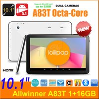 "Wholesale Cheapest Hdmi Bluetooth Tablet - 10.1"" 10"" inch A83t Allwinner Octa Core Android 5.1 1G 16GB 1024*600 Dual camera Wifi HDMI BT MID Tablet pc BT1078 20pcs cheapest Free DHL"