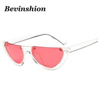 Wholesale sun candy - Wholesale 2018 New Half Lens One Piece Flat Top Brand Designer Men Sunglasses Women Clear Frame Candy Color Cool Sun Glasses Couple Oculos
