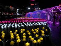 ingrosso ha portato le rose del fiore-Lanterna LED spettacolo luci sogno LED rose fiori colorato LED all'aperto piazza paesaggio parco scintillante Luci di festa 20 pz / lotto
