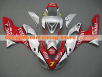 Wholesale 98 99 Yzf R1 - 3Gifts New Hot sales bike Fairings Kits For YAMAHA YZF-R1 1998 1999 r1 98 99 YZF1000 Cool red silver