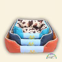Wholesale leopard dog beds - 3 colors beds for pets square pet couch bed leopard designer dog beds warm cat bed