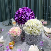 Wholesale Fountain Candles - new hotel supplies wedding crystal fountain table flower decor Candelabra Candle Holder wedding Centerpiece flower bowl