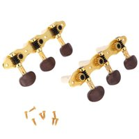 Wholesale Gold Guitar Head Tune - G301 high-grade classical sanlian tuning Gold-plated classical guitar grover Semicircle head agate Sanlian tuning