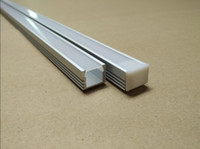 Wholesale Led Free Delivery - Free Delivery Cost High Quality 2M PCS 20Pcs lot U shape aluminum profile led aluminum groove with Cover set and PC cover & Clip for led bar