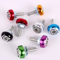 Wholesale License Plate Bolts Black - 6mm Aluminium Alloy License Plate Screw With Bolt And Nut For Motorcycle And Car 1 pcs