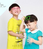 Atacado Funny Unique Colorful Soft Glasses Flexible Straw Drinking Tube Kids Party Gift H210279