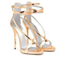 tamaño de la sandalia nupcial al por mayor-2016 zapatos de novia de la boda de la hebilla de la correa de las mujeres sandalias de tacón alto y delgado Sexy Plus Size US4-US15 Zapatos de fiesta de las señoras sandalias zapatos baratos modesto