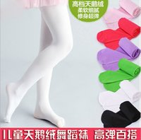 Wholesale Dance Pants Children - Candy Colors Soft Kawaii Lovely Velvet Children Girl Kids Pantyhose Tights Opaque Dance Tights Stocking Pants hot selling