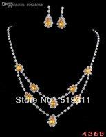 Wholesale Stylish Jewelry Sets - Wholesale-Stylish & Elegant New Design Flower Shape Rhinestone Jewelry Set For Brial Wedding sets High Quality