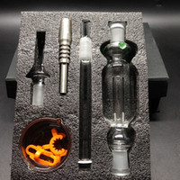 Wholesale Hot Water Collector - Hot Selling Micro Nectar Collector Kit Micro NC 14mm with Glass titanium Tip Nectar Pipe Titanium Nail smoking water pipe free shipping
