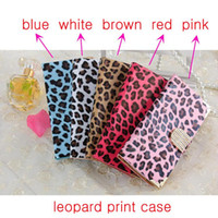 Leopard Print PU Carteira de couro Flip Cover Case Pouch W / Magnetic Rhinestone Buckle ID Card Slots para iPhone 6 6G 6S Plus iPhone6
