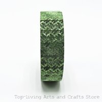 Wholesale Selling Decorative Tape - Wholesale-(1Pc Sell) Glitter Japanese Washi Tape Decorative Scotch Tape Scrapbooking Tools Masking Tape Adhesive Tape