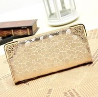 Wholesale Leather Money Wallet For Women - 2017 Fashion Designer Women Wallets Quality Leather Wallet for Women Famous Brands Money Clip Bag Female Gold Ladies Purse
