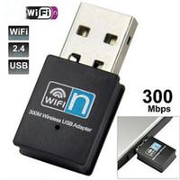 ordinateur sans fil wifi achat en gros de-300Mbps 802.11 b / g / n carte sans fil Mini Wireless USB Wifi WLAN adaptateur ou ensemble de vente au détail de réseautage informatique