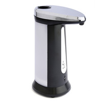Wholesale Dispensers For Soap - High Quality 400ml Stainless Steel IR Sensor Touchless Automatic Liquid Soap Dispenser For Home Kitchen Bathroom