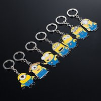 Wholesale Despicable Birthday - Cartoon Moive Despicable Me2 Metal Alloy Key Chain Keyring Car Keychains Kid's Toy Birthdays Gift Business Gift