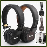 хорошие басовые наушники оптовых-Marshall Major II Наушники с микрофоном Good Bass DJ Hi-Fi наушники Hi-Fi Наушники DJ-монитор Наушники VS Wireless studio 2.0