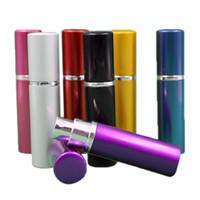 glas-zerstäuber-flaschen großhandel-Parfümflasche 5ml Aluminium Eloxiert Kompakt Parfüm Aftershave Zerstäuber Zerstäuber Duftglas Duftflasche Mischfarbe