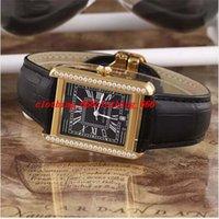 Wholesale Wrap Watch Brands - Luxury watch Classic Top Luxury Dress 2824 Automatic Watch Men Retro Wrap Brand Hour Famous Designer Golden case black leather watch