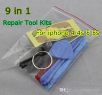 Wholesale Iphone Pentalobe Screws - 9 in 1 REPAIR PRY KIT OPENING TOOLS With 5 Point Star Pentalobe Torx Screw Screwdriver For APPLE Iphone5 5s 6S PLUS iphone 4s JP19