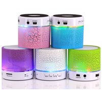 Wholesale Free Romantic Cards - Romantic Mini Bluetooth Speakers LED Speakers Portable Wireless Speakers with Colorful LED Light Hands-free Built-in Mic TF-card