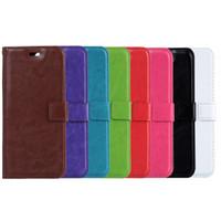 bolsa para s5 al por mayor-Cartera Funda de cuero de la PU bolsa con ranura para tarjeta para iPhone para Samsung S4 S5 S6 nota 3 4 borde S6 iphone 6 plus iPhone 7 7 más envío gratis