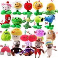 Wholesale Plants Vs Zombies Party - 13-20cm 8 Styles Plants vs Zombies Plush Toys Soft Stuffed Plush Toys Doll Baby Toy for Kids Gifts Party Toys