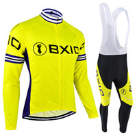 BXIO Brand Bike Jersey Winter Thermal Fleece Cycling Clothing Or Autumn  Breathable Yellow Bicycle Jersey Ropa Ciclismo Invierno BX-051 65391bb05