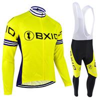 invierno ciclismo amarillo al por mayor-BXIO Marca Bike Jersey Invierno polar térmico Ciclismo Ropa O Otoño Transpirable Amarillo Bicicleta Jersey Ropa Ciclismo Invierno BX-051