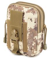 bolsillos de cintura militares al por mayor-Bolsa multiusos de herramientas de polietileno con bolsa EDC Bolsa de camuflaje Nylon militar Utilidad táctica Paquete de cintura Senderismo para acampar