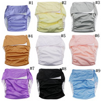 Wholesale Diaper Adults - Cloth Diaper Wash Diapers Adults Reusable Diaper Covers Elderly Waterproof Napkin Nappy Diaper Briefs Shorts Panties Pants 100pcs OOA2637
